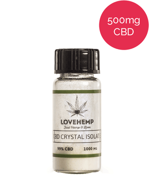 99% CBD Crystal Isolate Love Hemp