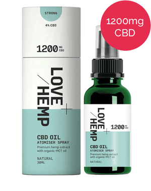 CBD Spray 1200mg - Love Hemp - Natural