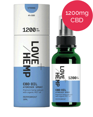 CBD Spray 1200mg - Love Hemp - Peppermint
