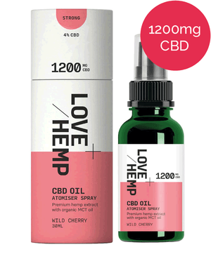 CBD Spray 1200mg - Love Hemp - Wild CHerry
