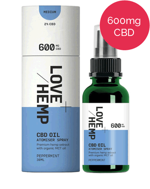 CBD Spray 600mg - Love Hemp - Peppermint