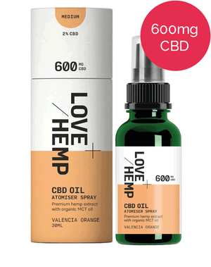 CBD Spray 600mg - Love Hemp - Valencia Orange