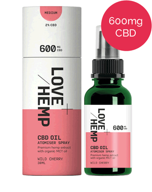 CBD Spray 600mg - Love Hemp - Wild Cherry