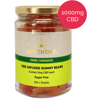 Love Hemp CBD Gummy Bears 1000mg