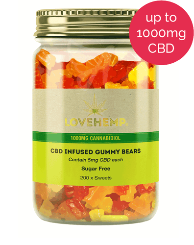 Love Hemp CBD Gummy Bears (sugar free)