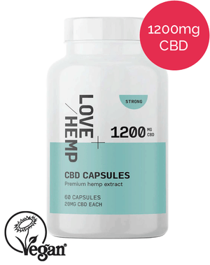 Love Hemp CBD capsules 1200mg