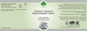 Vitamin C Citrus Bioflavonoids label