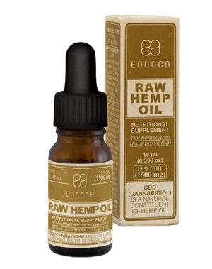Endoca Raw Hemp Oil Drops (10ml) with 15% CBD + CBDa-for the Ageless
