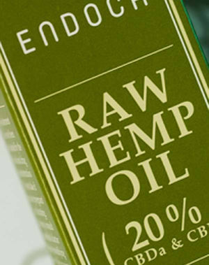 Endoca Raw Hemp Oil Extract (10g) with 20% CBD + CBDa-for the Ageless