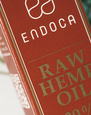 Endoca Raw Hemp Oil Extract (10g) with 30% CBD + CBDa-for the Ageless
