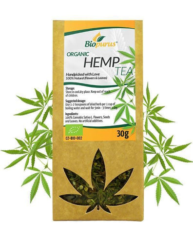 Hemp Tea (Flowers & Leaves) Biopurus UK - Certified Organic-for the Ageless