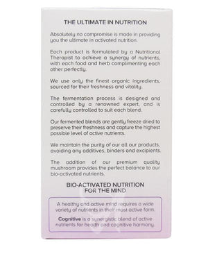 Lion's Mane Mushroom Cognitive Blend - Living Nutrition UK-for the Ageless