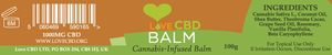 Love CBD Balm XL High Strength (1000mg in 100g)-for the Ageless