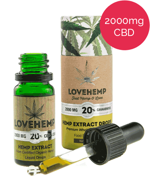 Love Hemp UK 20% Organic CBD Oil (2000mg in 10ml)-for the Ageless