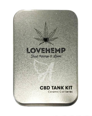 Love Hemp UK CBD Oil Vape Kit Tank + 1ml e Liquid (Free Sample)-for the Ageless