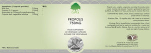 Propolis Extract 750mg (Highly-Concentrated 5:1) G&G UK-for the Ageless