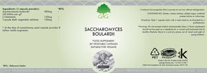 Saccharomyces Boulardii with L-Glutamine (60 capsules) | G&G-for the Ageless