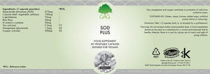 SOD Plus - Superoxide Dismutase with L-Glutathione | G&G UK-for the Ageless