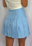 Oh Baby Oh Baby Blue Pleated Skirt