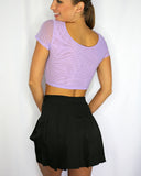 Made Ya Look Purple Mesh Top