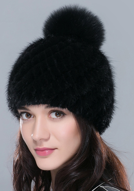 Winter Hat – Female Winter Beanie With Natural Fur | Zorket
