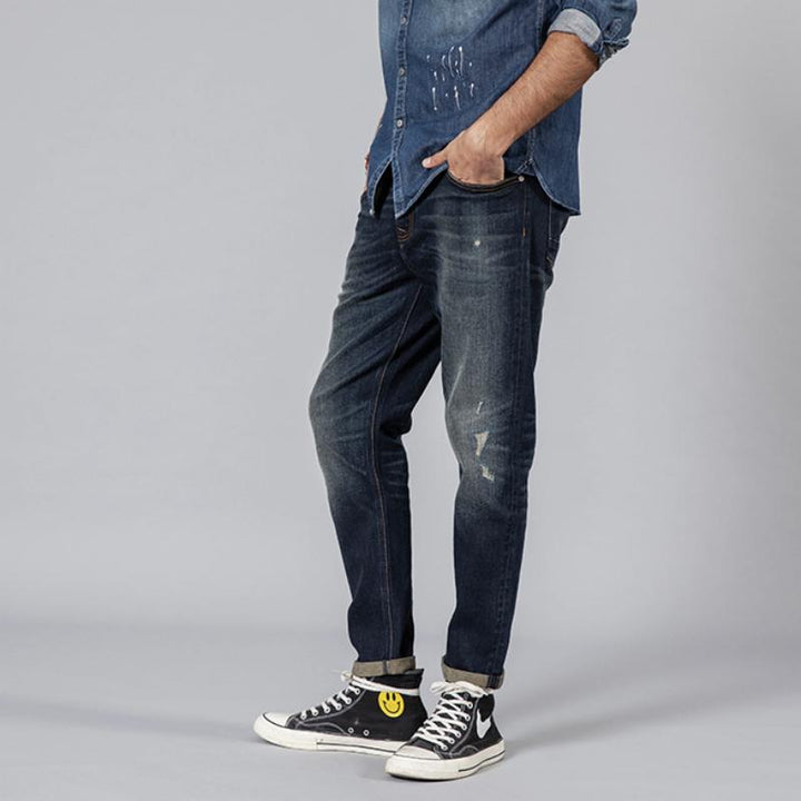 Men's Autumn Ripped Denim Trousers