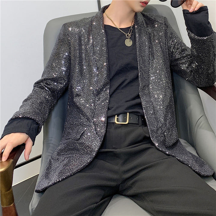 Men's Spring Casual Loose Shining Blazer
