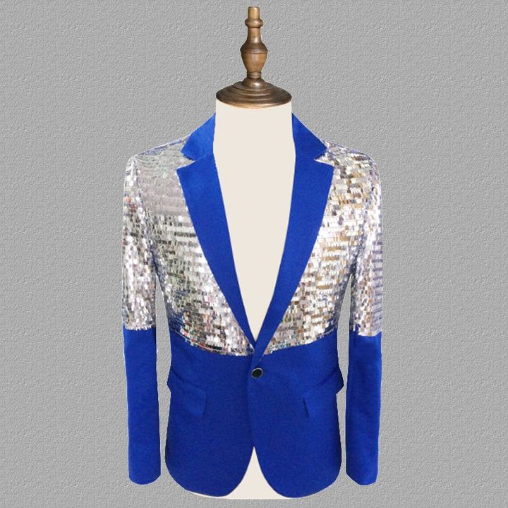 Men's Single Breasted Blazer With Sequins | Plus Size