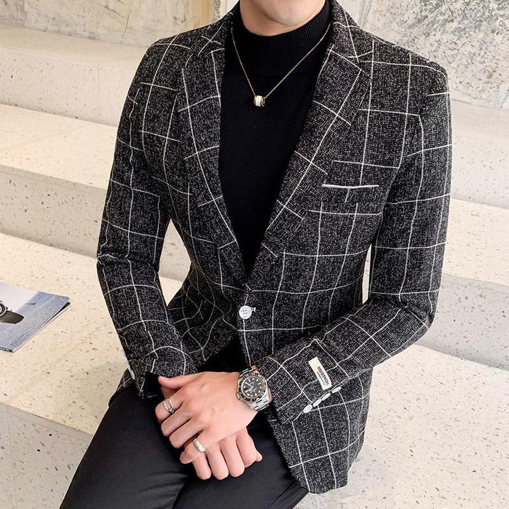 Men's Autumn Plaid Blazer