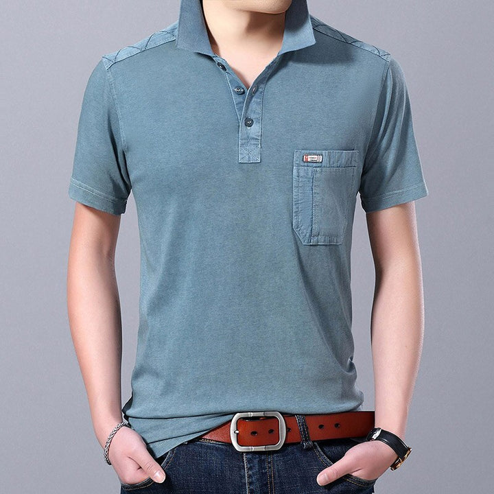 Men's Summer Cotton Solid Colored Polo