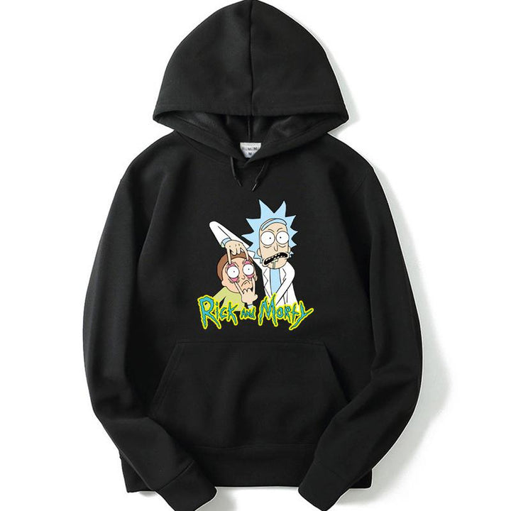 "Men's Autumn/Winter Hooded Sweatshirt ""Rick And Morty"""
