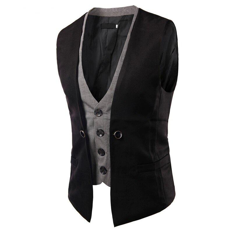 Men's Wedding Slim Fit Double Vest