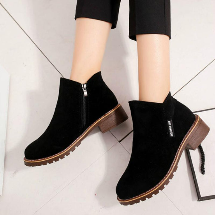 Women's Autumn/Winter Suede Ankle Boots