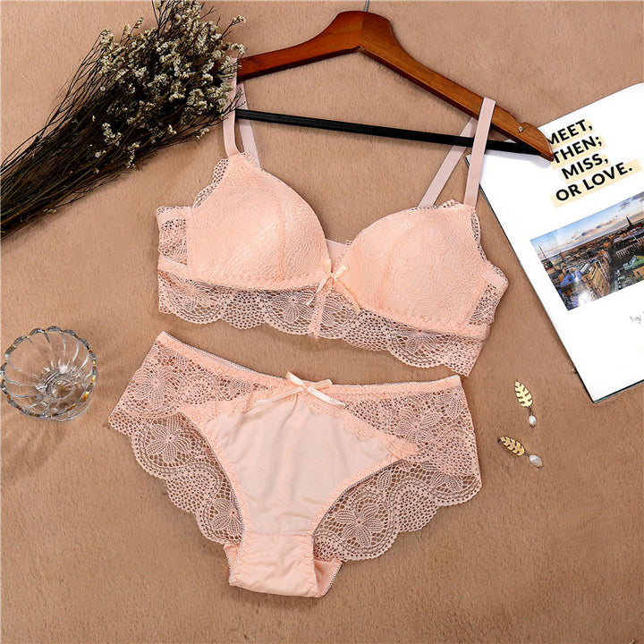 Women's Cotton Lace Lingerie Set