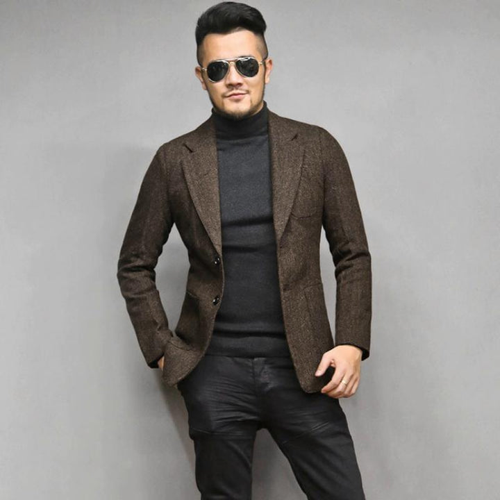 Men's Autumn/Winter Casual Woolen Blazer
