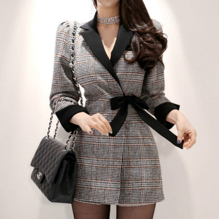 Women's Spring/Autumn Patchwork Polyester Two-Piece Romper