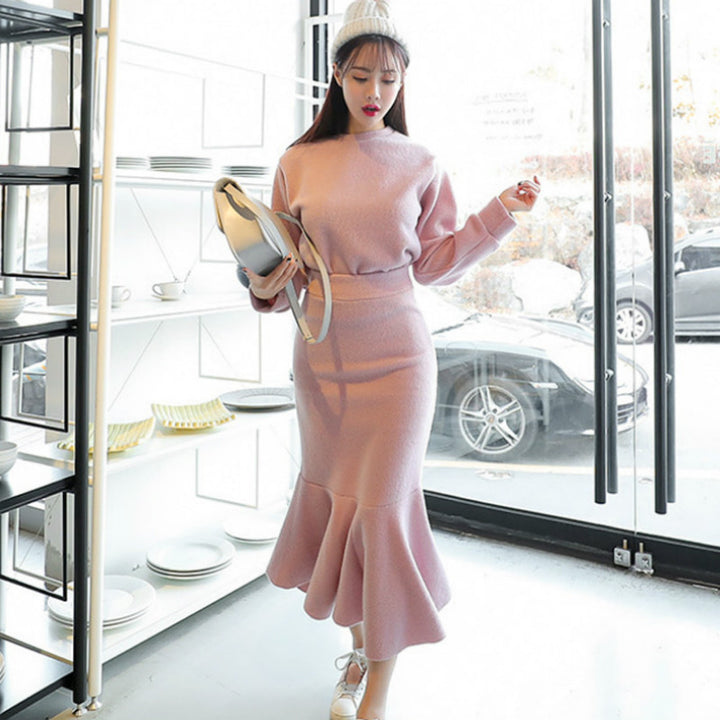 Women's Autumn/Winter Casual Two-Piece Sweater Dress
