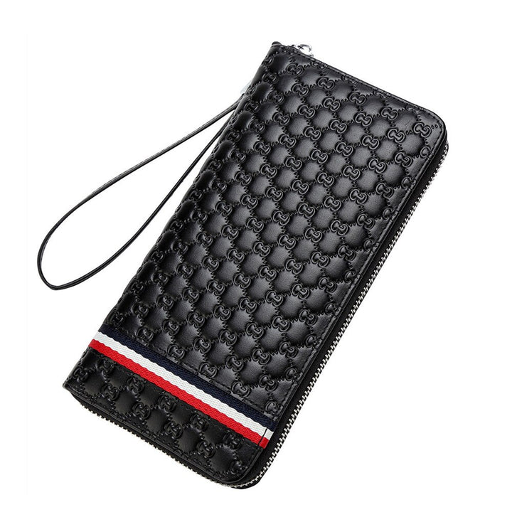 Men's Genuine Leather Clutch With Zipper
