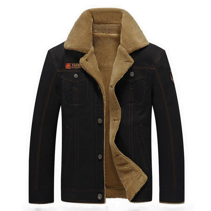 Men's Winter Jacket With Buttons
