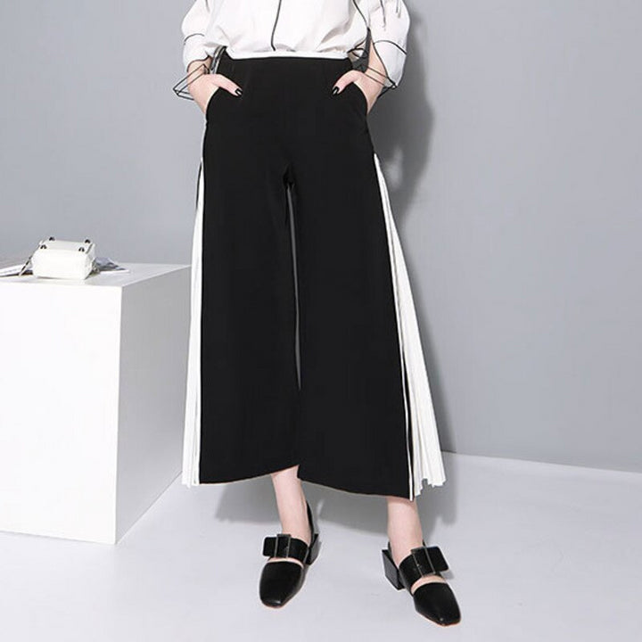Women's Spring High-Waist Loose Long Pants