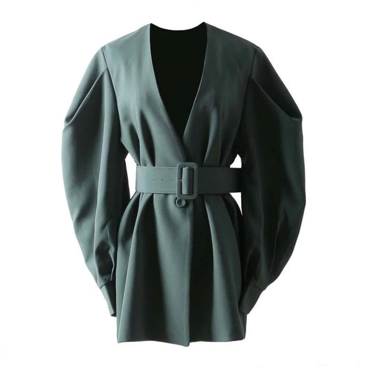 Women's Spring/Summer Cotton V-Neck Slim Coat