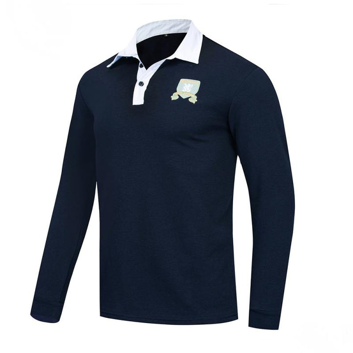 Men's Autumn Casual Cotton Long Sleeved Polo