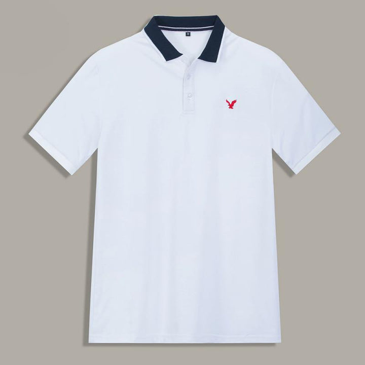 Men's Casual Cotton Polo With Embroidery