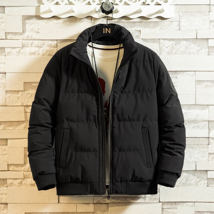 Men's Winter Casual Polyester Regular Bomber With Zippers