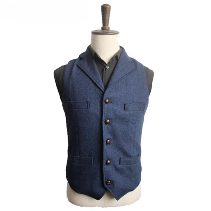 Men's Autumn Woolen Slim Fit Vest