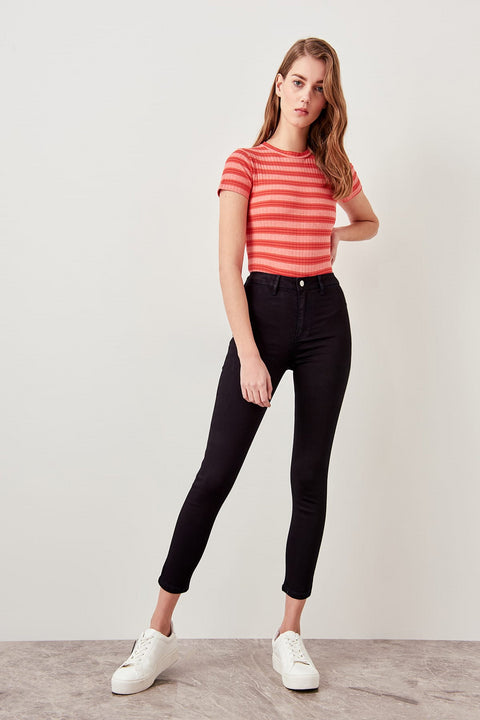 Women's Cotton High-Waist Jeans