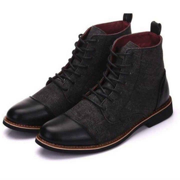 Men's Winter Casual Leather Boots With Pointed Toe | Plus Size