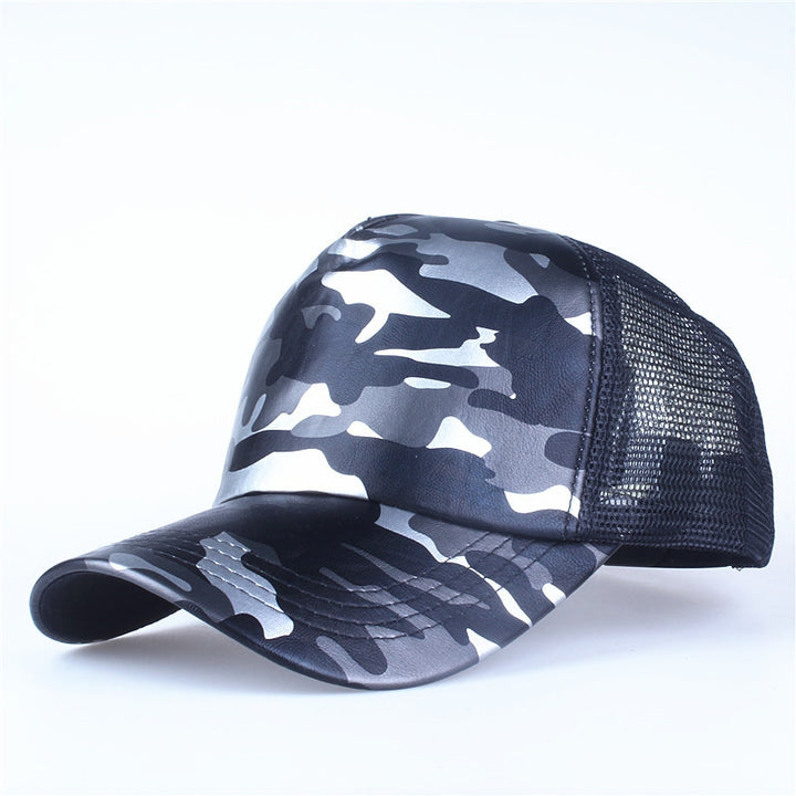 Men's Summer Leather Baseball Cap