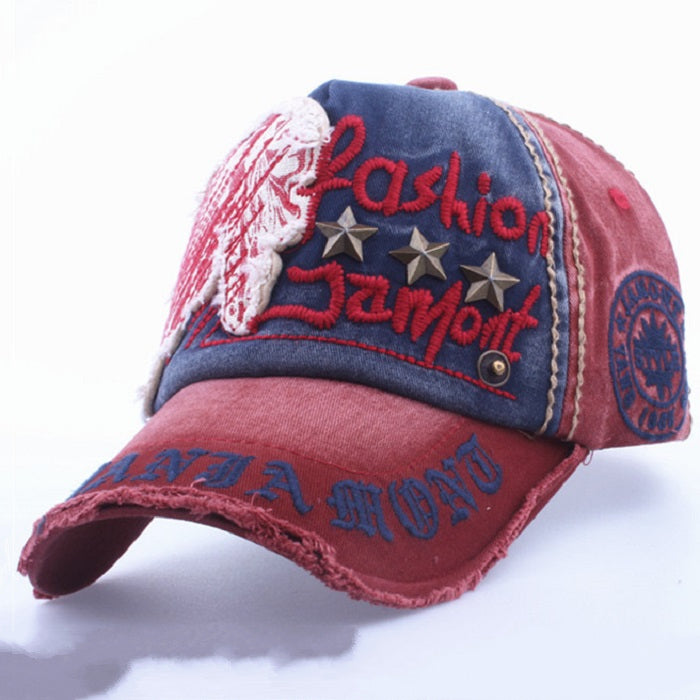 Men's/Women's Cotton Baseball Cap With Embroidery