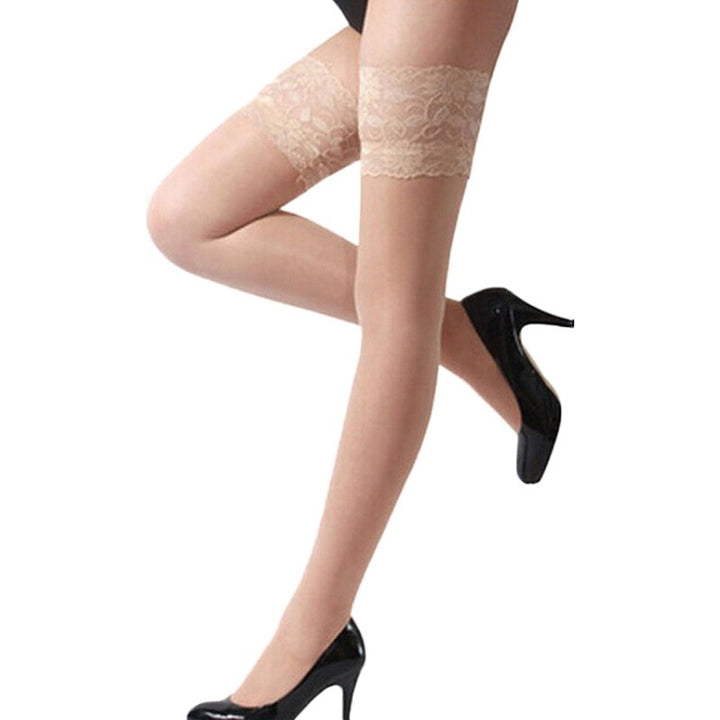Women's Spandex Thin Stockings With Lace
